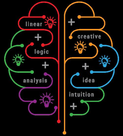 Right brain & left brain flow chart