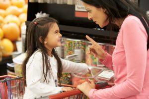 Child tantrum in public